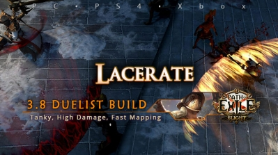 [Duelist] PoE 3.8 Lacerate Gladiator Starter Build (PC, PS4, Xbox)